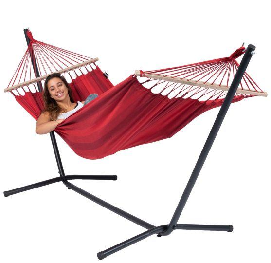 Amaca con supporto per 1 persona Easy & Relax Red